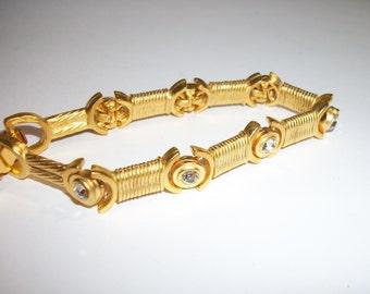 Gold-tone and Rhinestone Bracelet