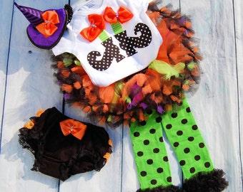 Witch tutu- Girls Witch Costume- Girls Witch Dress- Baby Girl Witch Costume- Baby Witch- Baby girl Halloween Costume- Baby Witch Tutu