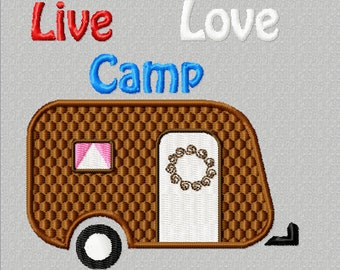 Live Love Camp Embroidery Design