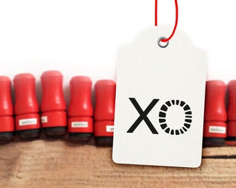 Mini Typo Rubber Stamp XO