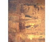 SALE | Abstract 1138 | Original Fine Art by Crystal Henson | Large Vibrant Painting 22 x 28 Earth Tones Warm Gold Brown Abstract Acrylic