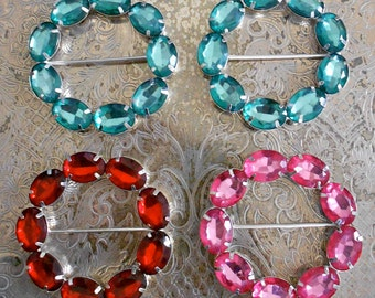 Multi Colored Faux Stone Belt Buckles