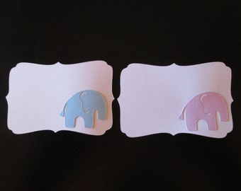 Elephant Baby Shower place cards, set of 10