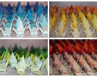 100 Origami Cranes - Japanese Paper