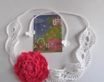 Girls Headbands Сrochet Flower Girl Headband Crochet Flower Headband Lace Headband Girls Summer Headband Summer Head bands Gift for her