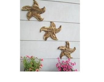 Driftwood Starfish Wall Decor- Made to Order - Upcycled Beach Decor, Fish, Beach House, Beach, Sailfish, Nautical, Jersey Shore