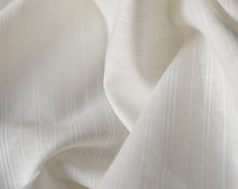 White linen tablecloth.Handsewn and ready to ship