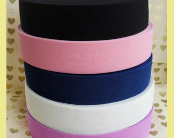 50 mm ( 2 Inch )  wide waist stretch waistband elastic for belt craft sewing  x 1 Meter-twill