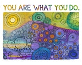 "11x14 Inspire Doodle Mini Poster ""You Are What You Do"""