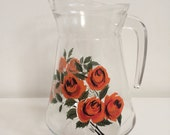 1950/60's Medium Rose Glass Jug