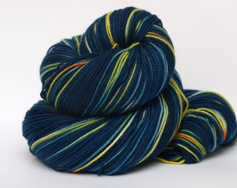 Superwash Merino Wool, Hand Dyed Fingering/Sock Yarn, 400 yards, Vincent and the Doctor