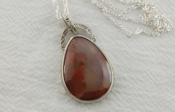 RESERVED FOR SHAYLA - Gemstone Necklace - Artisan Necklace - Red Agate Necklace - Metalwork Jewelry - Boho Necklace