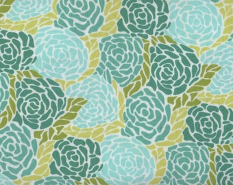 Teal Floral Fabric, Roses, Chantilly by Moda, Turquoise Rose Fabric, Floral Fabric, Rose Fabric, 05100