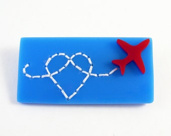 Red Arrows Heart brooch