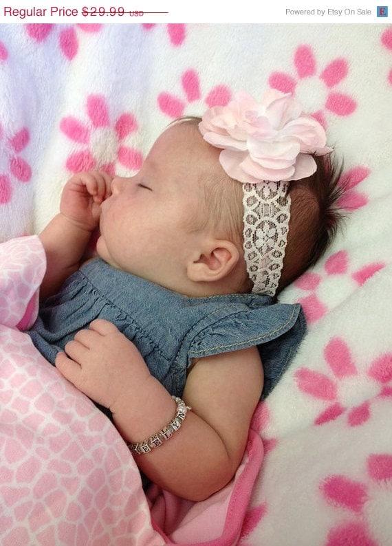 Baby Girl Gift Name Bracelet Sterling silver by mycrystaldream
