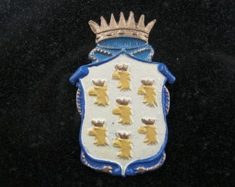 1:12th Coat of Arms Wall Hanging Ornament (Eagle/Crown) for the Dolls House