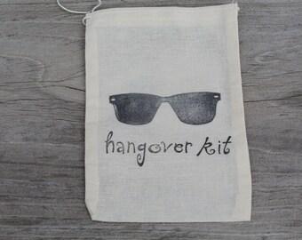 Set of 10 Shades Sunglasses Hangover Kit Muslin Drawstring Bags