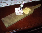 Reclaimed Poplar wood cutting/serving cheese and bread board