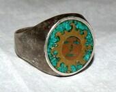 RARE ZAGAL RING Sterling Metales Casados Size 10.5 c1945