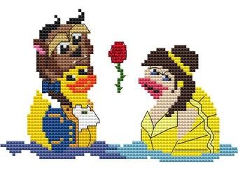Modern Cross Stitch Kit 'Beauty and the Beast' Cross Stitch Kit - Duck - Princess