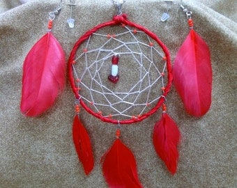 red modern dream catcher