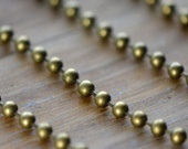 Large Iron Bead Chain Antique Bronze 3mm Chain Bubble Bead Army Chain Dog Tag Chain Vintage Style Jewelry Making Supplies (EA132)