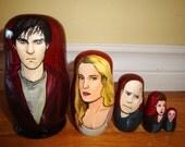SALE: Set of Five Warm Bodies Nesting Dolls