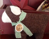 Prim Sheep~ Primitive Easter Decor~ Sheep Tuck~ Brown Wool