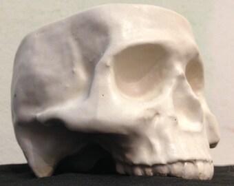 Stoneware Ceramic Skull Mug Bone White by Tony Furtado