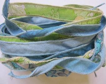 Bracelet Ribbon, Silk Bracelets, Silk Ribbons, Silk Wrist Wraps, Yoga Bracelet W89
