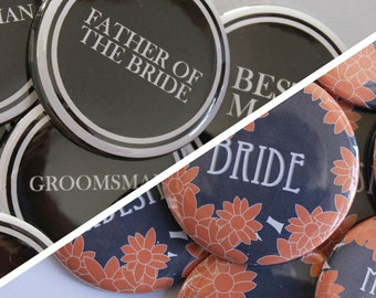 Bridesmaid // Groomsman Buttons