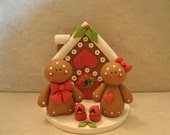 Gingerbread House - Gingerbread Couple - Figurine