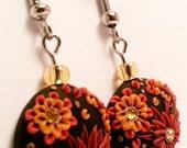 Brown and orange flowers