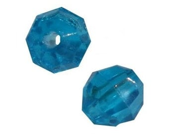 8mm Turquoise Faceted Beads - 480 Beads