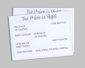 Price is Right - Baby Shower Game - Customizable Instant Download PDF