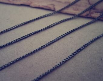 6.6ft(2m) antique bronze necklace chain 1mmx2mm