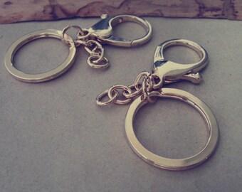 10pcs Gold color key Ring