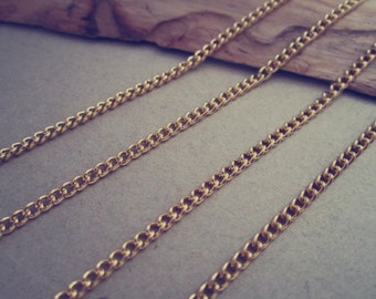 16ft Gold color necklace chain 2mmx3mm