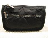 vintage black LeSportsac  makeup case/cosmetic bag - like new