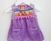 SPRING 0-3 Months Baby Babies Newborn Gift Dress Upcycled Cotton Unisex