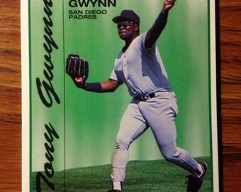Tony Gwynn 1993 RARE San Diego Padres Baseball Card KRAFT Singles Vintage HOF