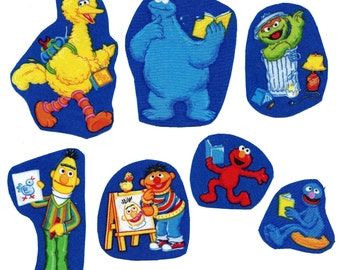 Iron on fabric Sesame Street appliques DIY