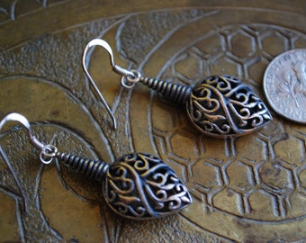Vintage DANGLE EARRINGS - 1960s Sterling Silver Earrings