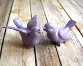 Wedding Cake Topper - Lovebirds in Bright Orchid.  Purple Love Bird Pair, Purple Wedding - BoulderDesign