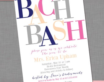 Bachelorette Party/Bridal Shower Invitation -- Customized DIY Printable Invitation | Item BR211