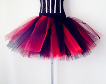 Black Red  tutu skirt size all sizes please select at checkout