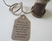 Custom Tags - Favor Tags - Gift Tag - Gift Tag With Saying - Wishing Tree Tags - Shower Favor Tags