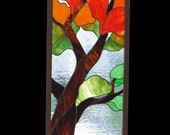 Stained glass panel reserved for Diane