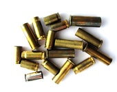 Empty Bullet Casings, Repurposed Steampunk Jewelry Supplies, Recycled Brass, Mixed Lot of 17 at Hendyfinds