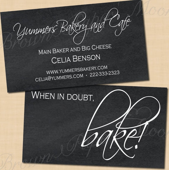 Chalkboard Editable Business Cards Fits Avery by